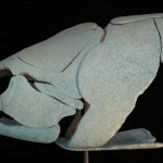 "FOSSIL FISH ONE, 2005, Bronze, 36""H x 30""W x 12""D"